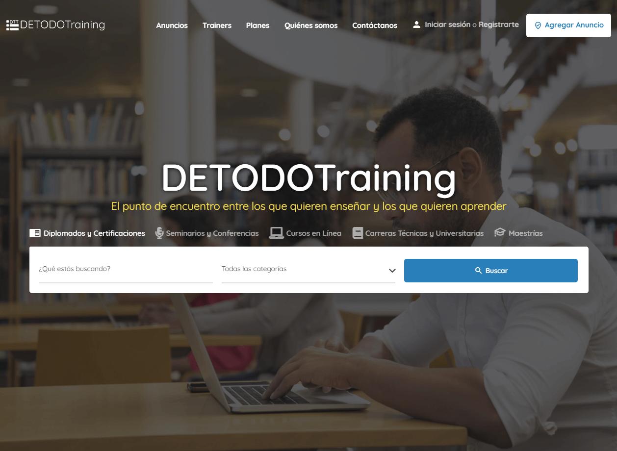 Desarrollo de sitio web detodotraining.com