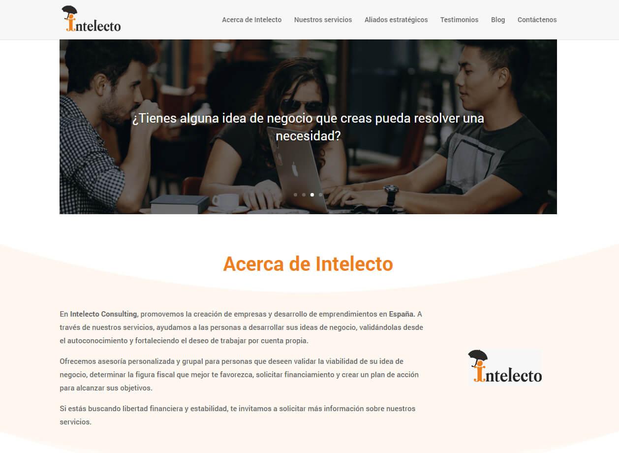 Desarrollo de sitio web intelecto-consulting.es