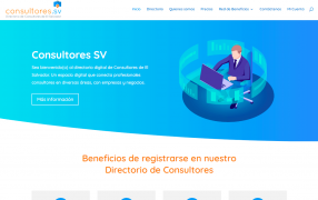 Sitio web Consultores SV