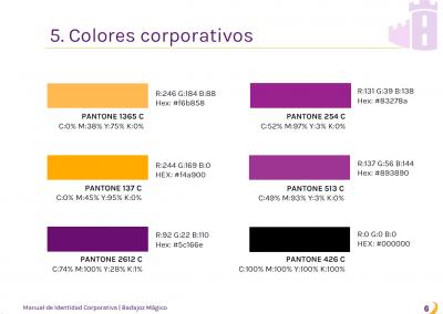 Badajoz Mágico | Colores corporativos