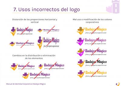 Badajoz Mágico | Uso incorrecto de logo