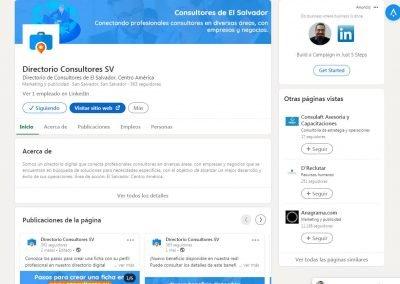Consultores SV | Diseño cuenta LinkedIn