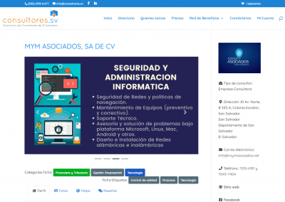consultores.sv   Ficha de un Consultor