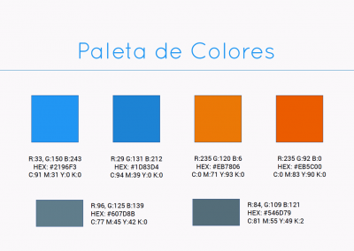 consultores.sv | Paleta de colores