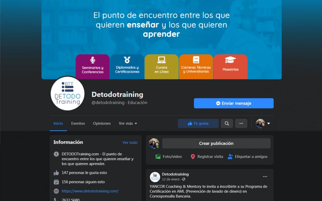 Branding redes sociales de DETODOTraining