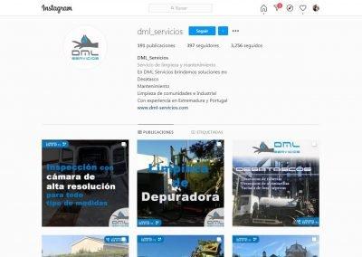 DML Servicios | Diseño cuenta Instragram