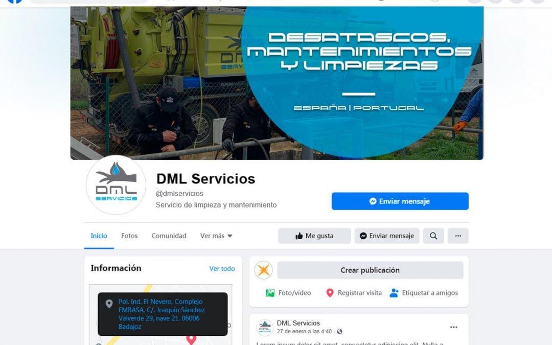 Branding redes sociales de DML Servicios