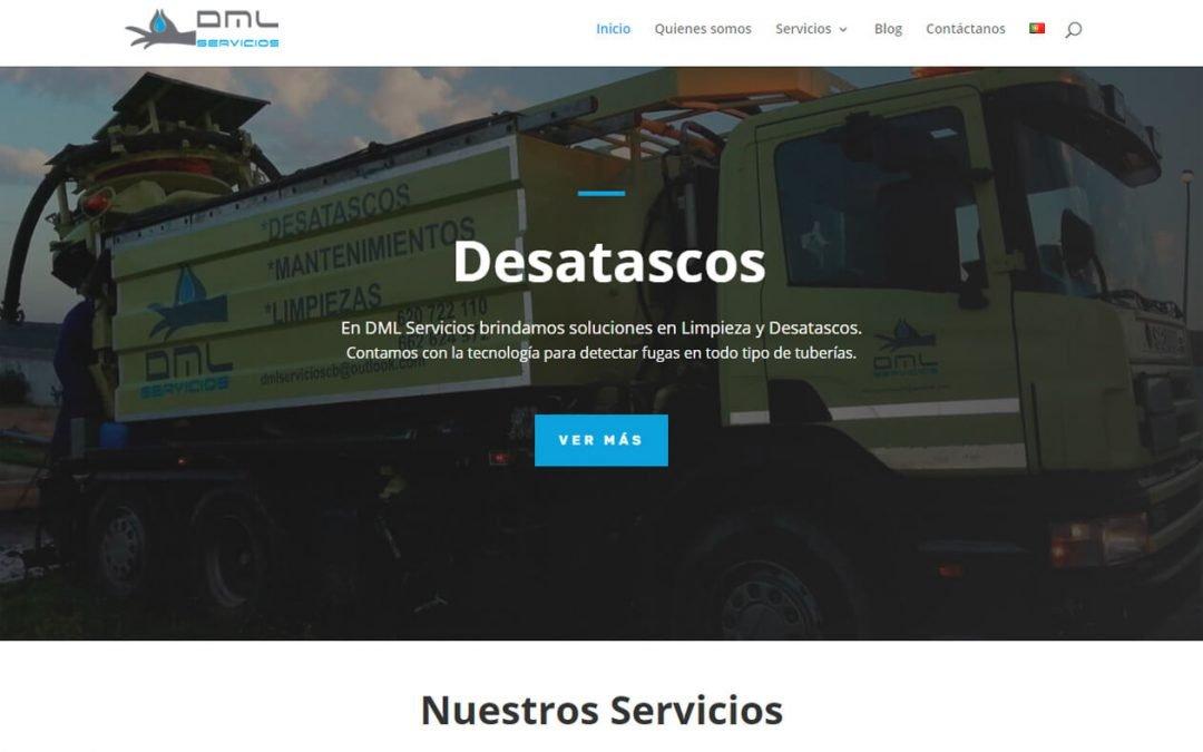 Desarrollo de sitio web dml-servicios.com