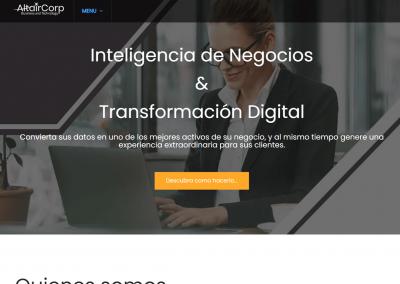 Desarrollo de sitio web altair-corp.com