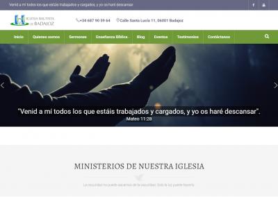 Desarrollo de sitio web iglesiabautistabadajoz.org