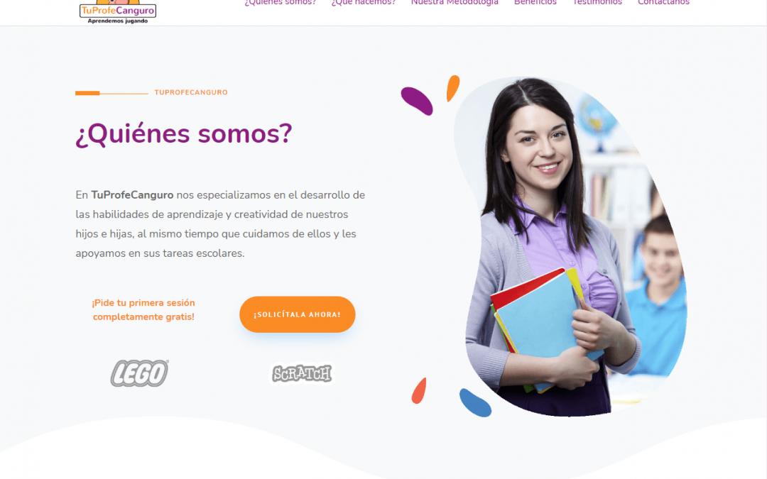Desarrollo de sitio web tuprofecanguro.es