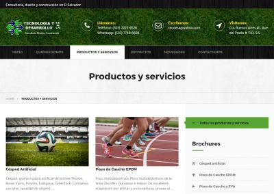tecdesa.com | Página de productos y servicios