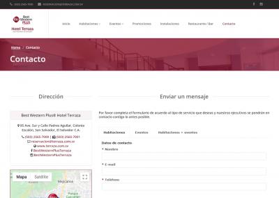 terraza.com.sv   Página de contacto