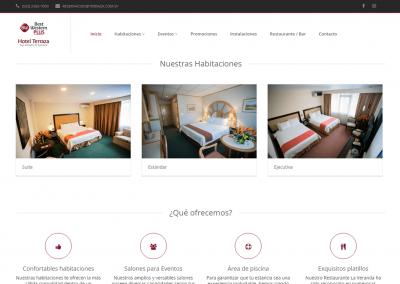 terraza.com.sv   Página de habitaciones
