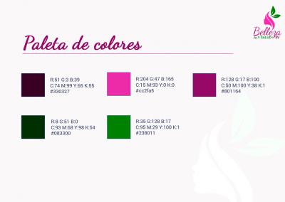 Belleza y Salud SV | Paleta de colores