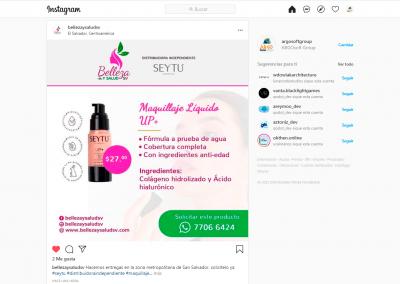 Belleza y Salud SV | Publicación Instagram