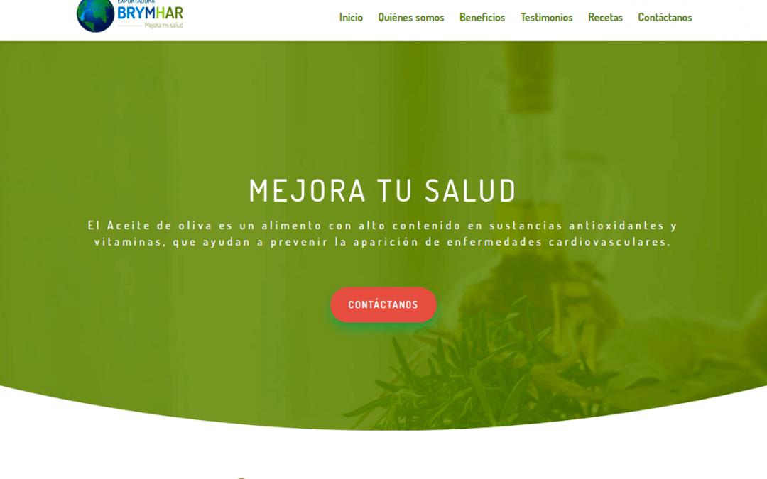 Desarrollo de sitio web exportadora-brymhar.es