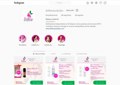 Belleza y Salud SV | Cuenta Instagram