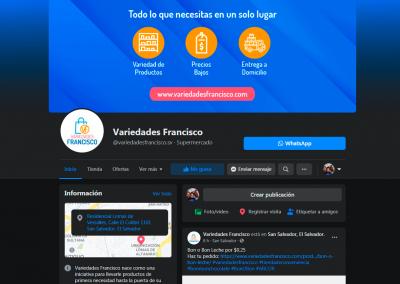 Branding redes sociales de Variedades Francisco