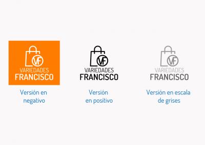 Variedades Francisco   Versiones del logotipo