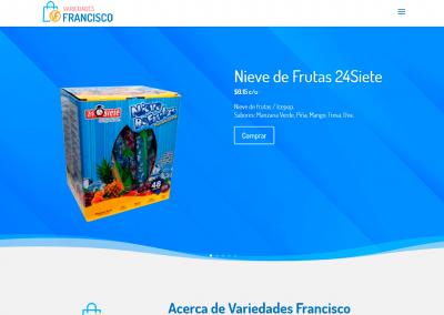 Desarrollo de sitio web variedadesfrancisco.com